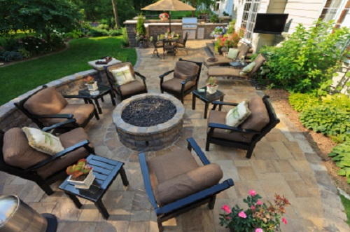 Vibrant Outdoor Room Patio