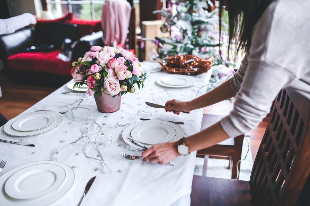 Holiday Dinner Tablescape