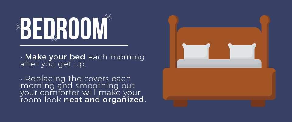 Make your bed every day.