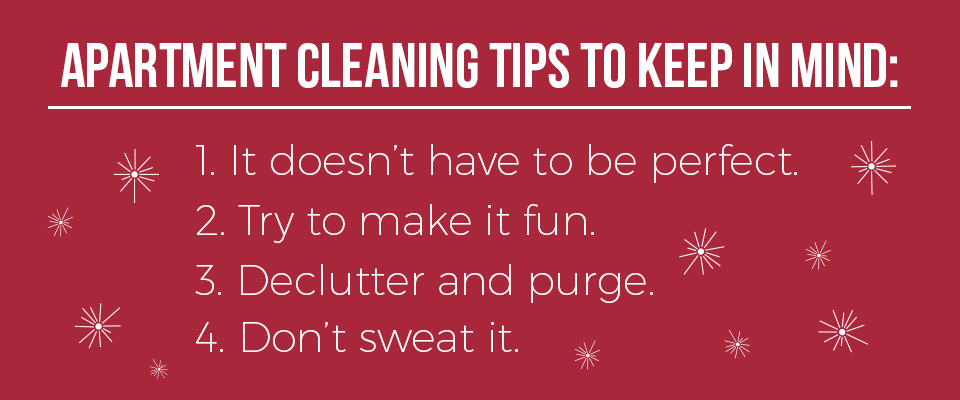 General apartment cleaning tips