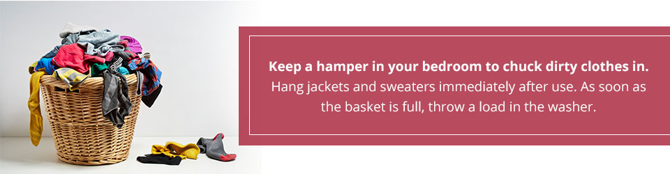 keep a clothes hamper in your bedroom