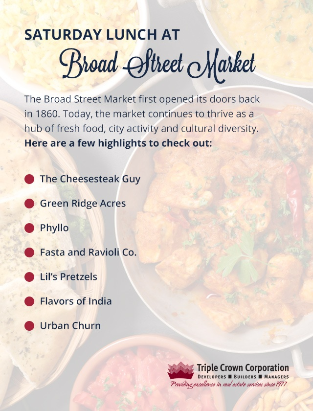 Enjoy Saturday Lunch at Broad Street Market