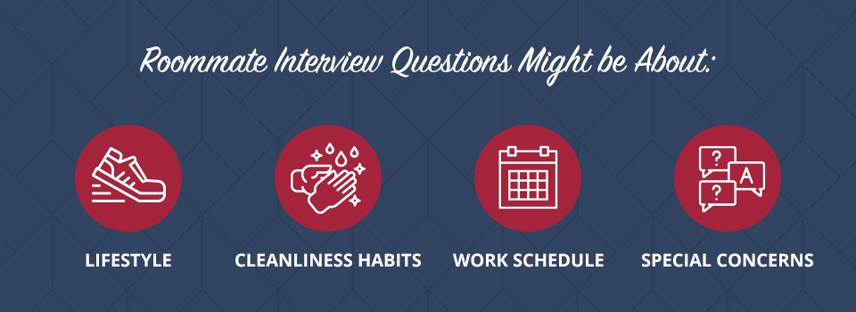 what are roomate interview questions about