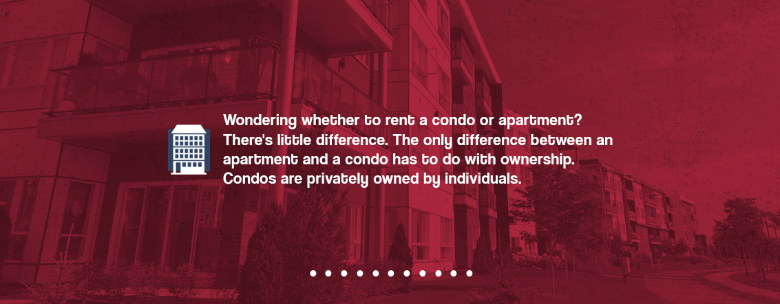 Renting a condo vs an apartment